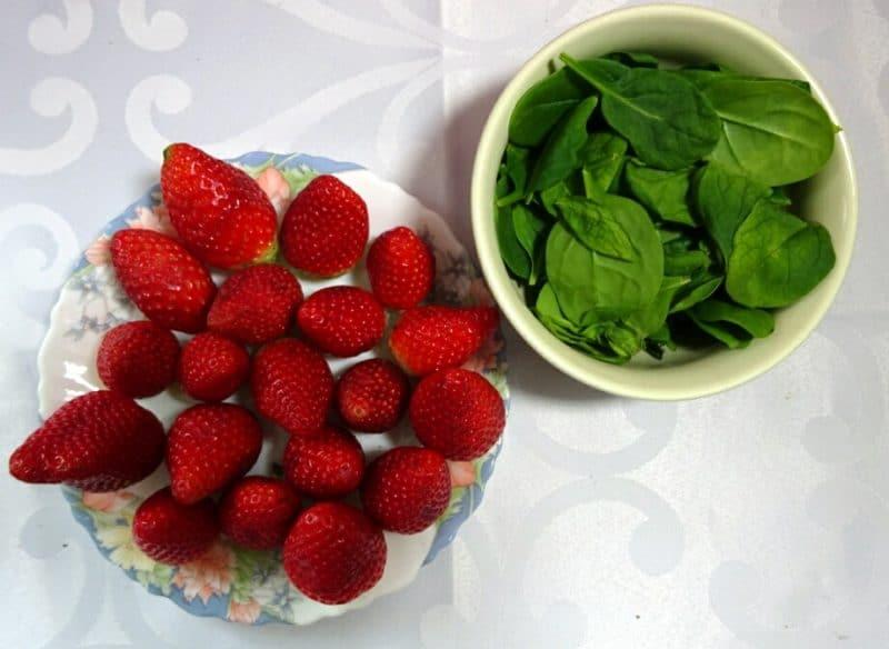 Erdbeeren-Spinat Smoothie