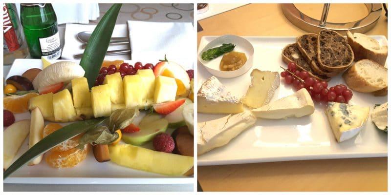 Obst und Käseteller Snacks im Sheraton Hotel Esplanade